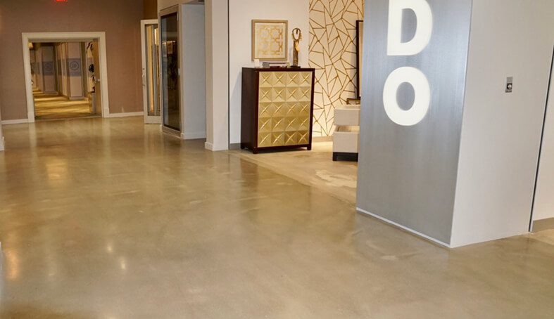 Business Interior Floors Polished Concrete Flooring