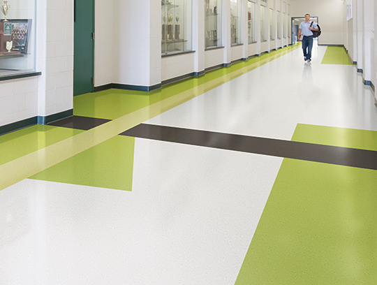 Durable floor tile
