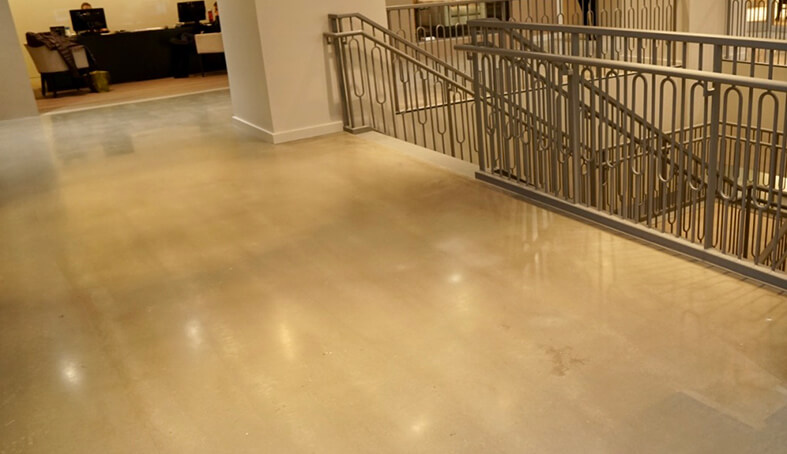polished concrete floor. Plain Floor Polished Concrete Is A Great Choice For Highgloss Finished Look Without  The Price Of Marble Or Granite Durable Polished Can Range From Satin  Intended Concrete Floor E
